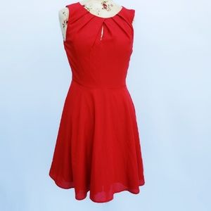 Lovely red Express dress with keyhole cutout.